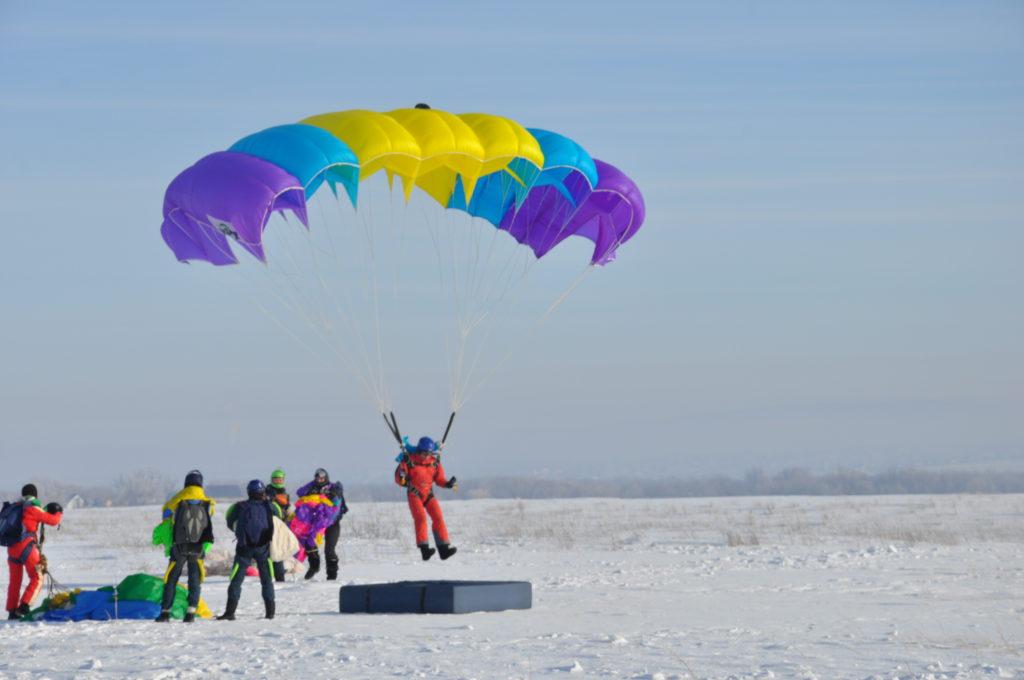 Прыжок с парашютом в цель